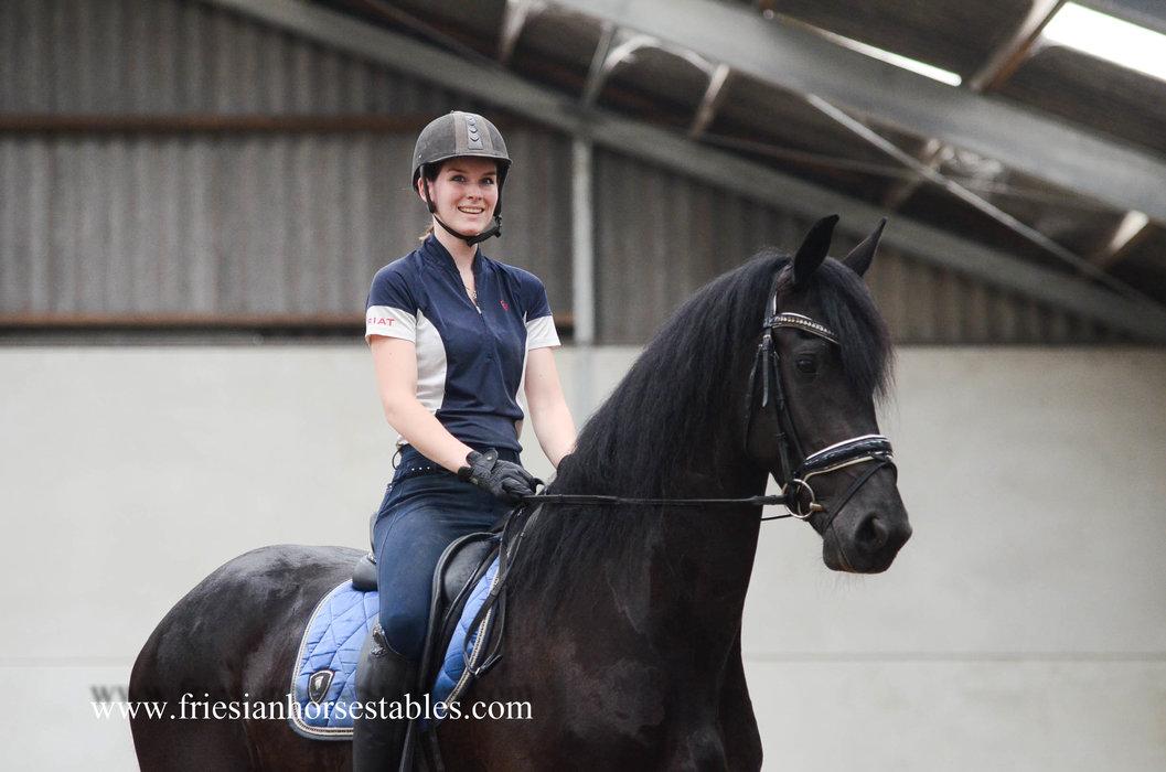 Yiska - Wimer 461 Sport x Ulbert 390 Sport - Tall, modern sports mare - Last year she was in the half finals of the Friesian Talent Cup!!